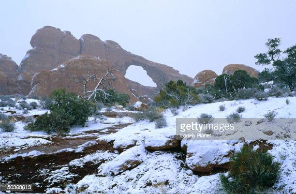 Skyline Arch in winter, Arches National Park.