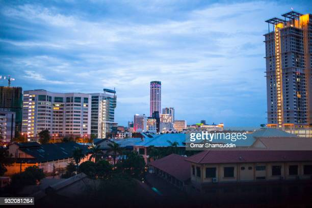 skyline architecture and komtar tower, penang - omar shamsuddin stock pictures, royalty-free photos & images