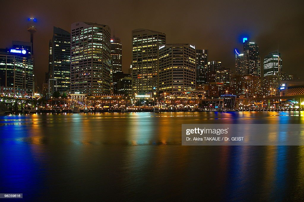 Skyline at Darling Harbour : Stock Photo