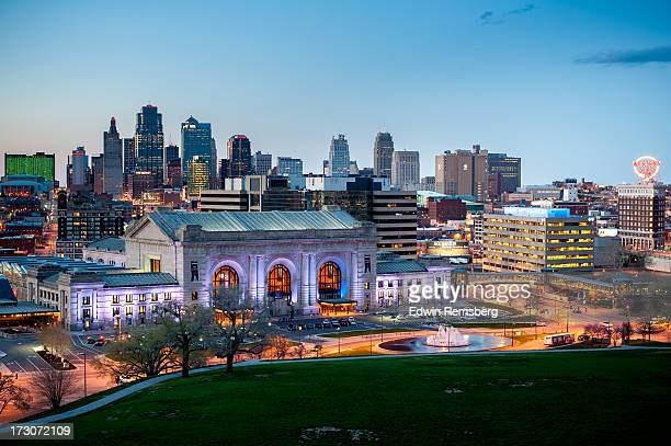 KC skyline at dusk