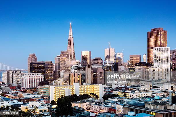 Skyline at dusk, San Francisco, USA
