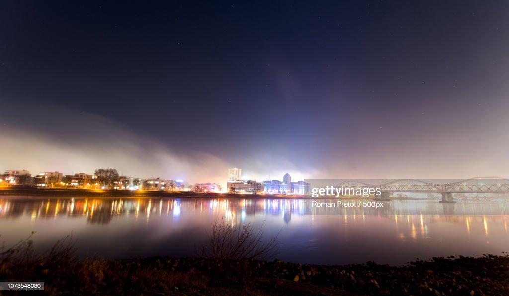 Skyline at Night (Ludwigshafen am Rhein) : Stock-Foto