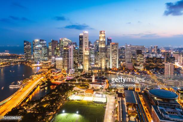 Skyline at sunset, Singapore