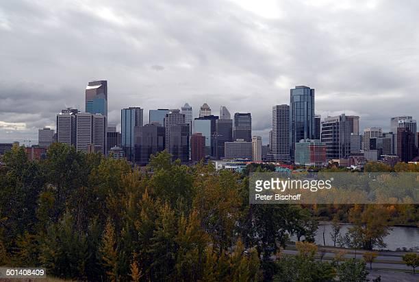 Skyline bei bewölktem Himmel, Calgary, Alberta, Kanada, Nordamerika, Häuser, Gebäude, Reise, BB, DIG; P.-Nr. 1379/2007, ;