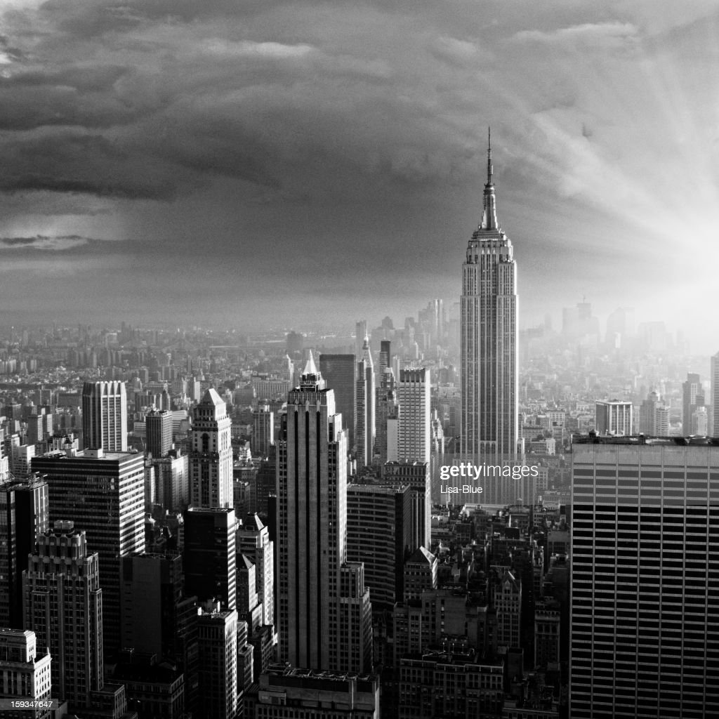 Nyc Skyline Black And White Stock Photo Getty Images