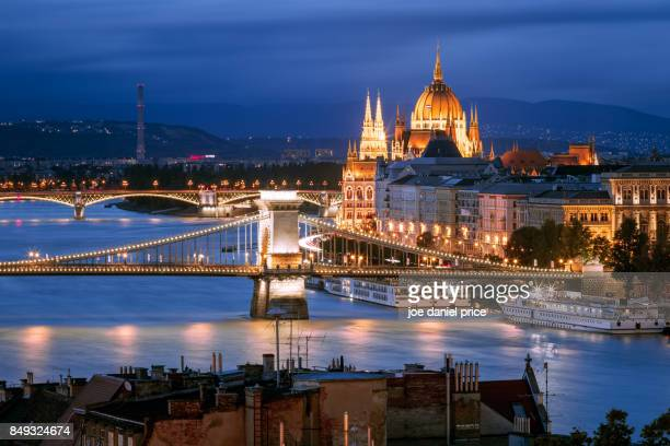 skyline, budapest, hungary - budapest stock pictures, royalty-free photos & images