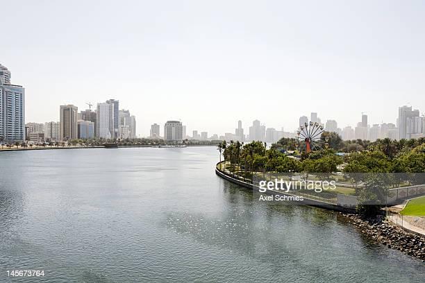 Skyline, Corniche, Khalid Lagoon, Sharjah, UAE