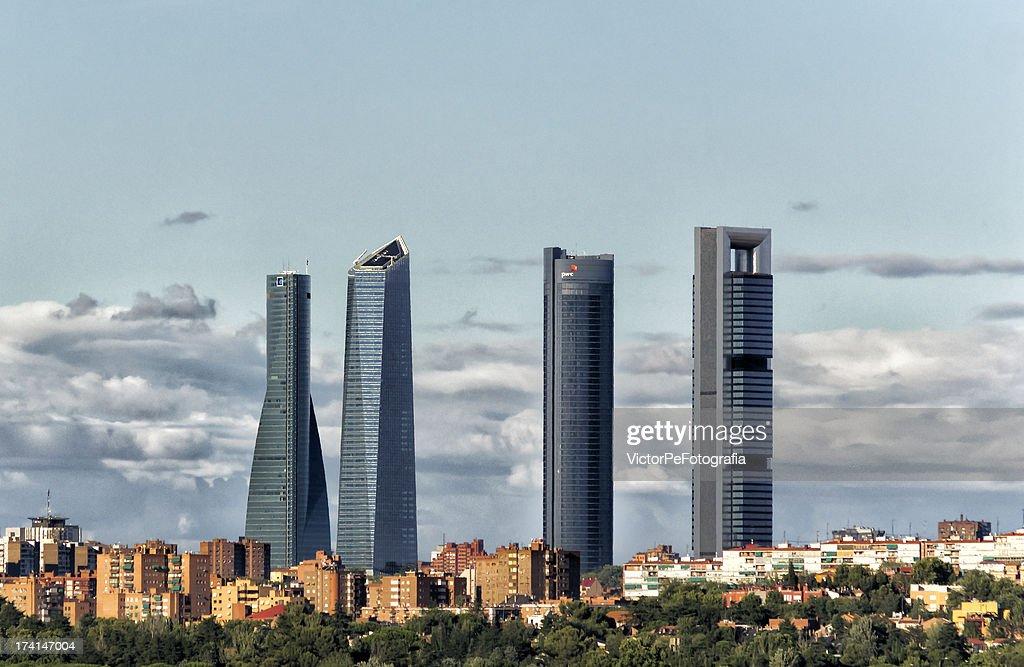 Skyline de Madrid. : Stock Photo