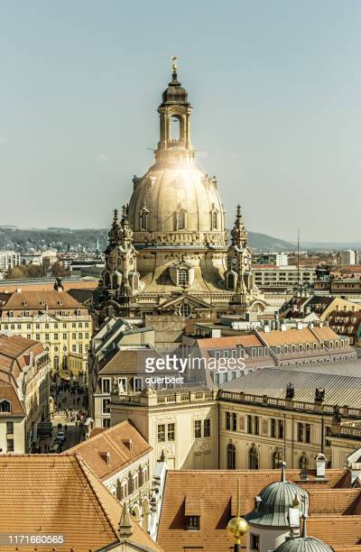 skyline dresden with frauenkirche - dresden germany stock pictures, royalty-free photos & images