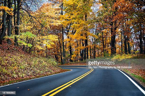 skyline drive - milepost 72 - skyline drive virginia stock photos and pictures