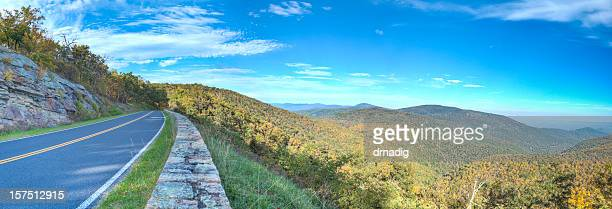 skyline drive panorama - skyline drive virginia stock photos and pictures