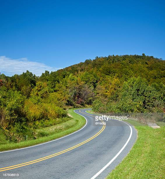 skyline drive - skyline drive virginia stock photos and pictures