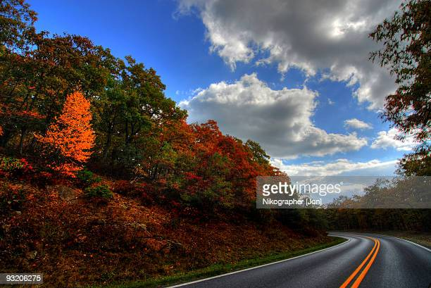 skyline drive, virginia - skyline drive virginia stock photos and pictures