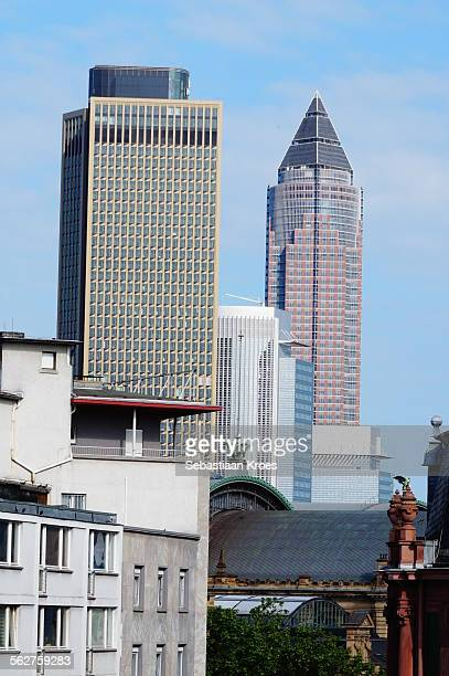 Skyline Frankfurt, Messe tower, tower 185, Germany