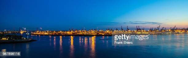 skyline hamburg harbor
