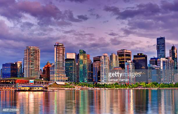 skyline i - vancouver canada stock pictures, royalty-free photos & images