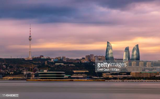 skyline ii - baku stock pictures, royalty-free photos & images