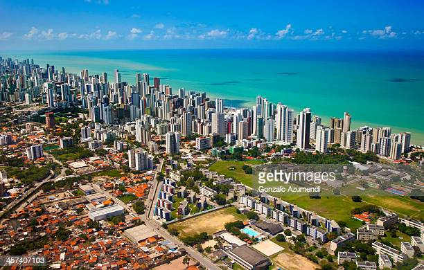 skyline in  recife. - recife stock pictures, royalty-free photos & images