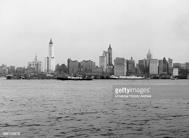 Skyline Lower Manhattan New York City USA circa 1915