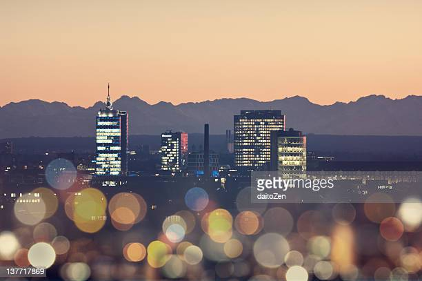 skyline munich, germany - munich stock pictures, royalty-free photos & images