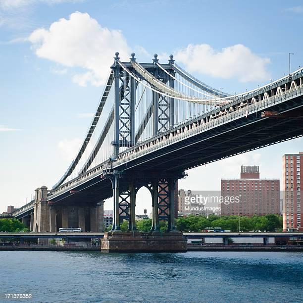 Skyline New York City with Manhattan Bridge