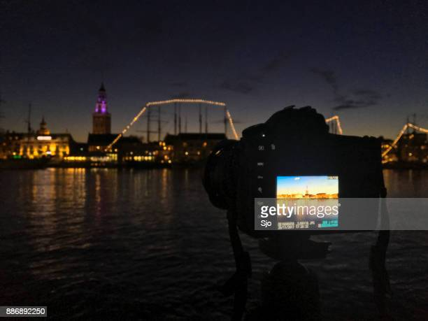 skyline night photography with the new nikon d850 dslr - nikon stock pictures, royalty-free photos & images