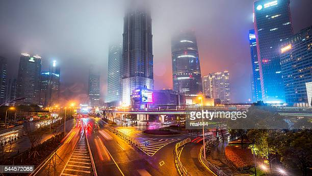 Skyline night view on Pudong New Area, Shanghai