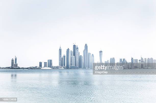 skyline of a city of skyscrapers - day stock pictures, royalty-free photos & images