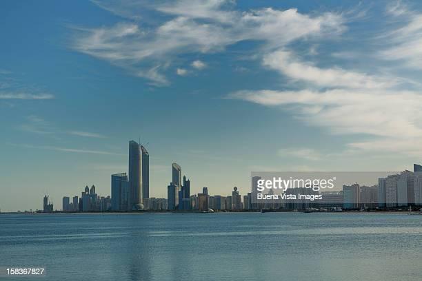 Skyline of a futuristic city. Abu Dhabi.
