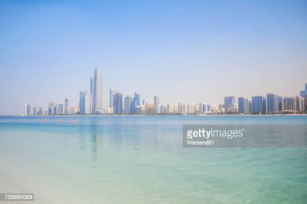 UAE, skyline of Abu Dhabi at the waterfront