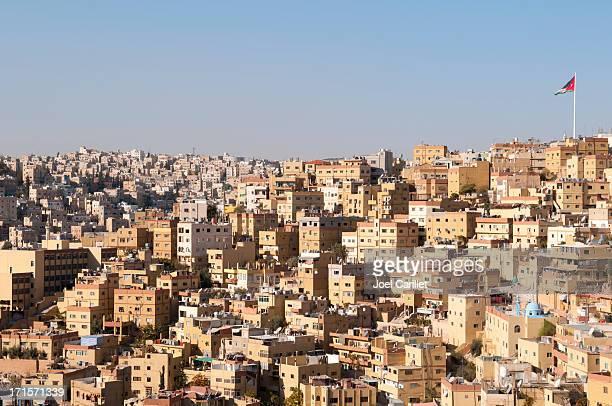 skyline of amman, jordan - amman stock pictures, royalty-free photos & images