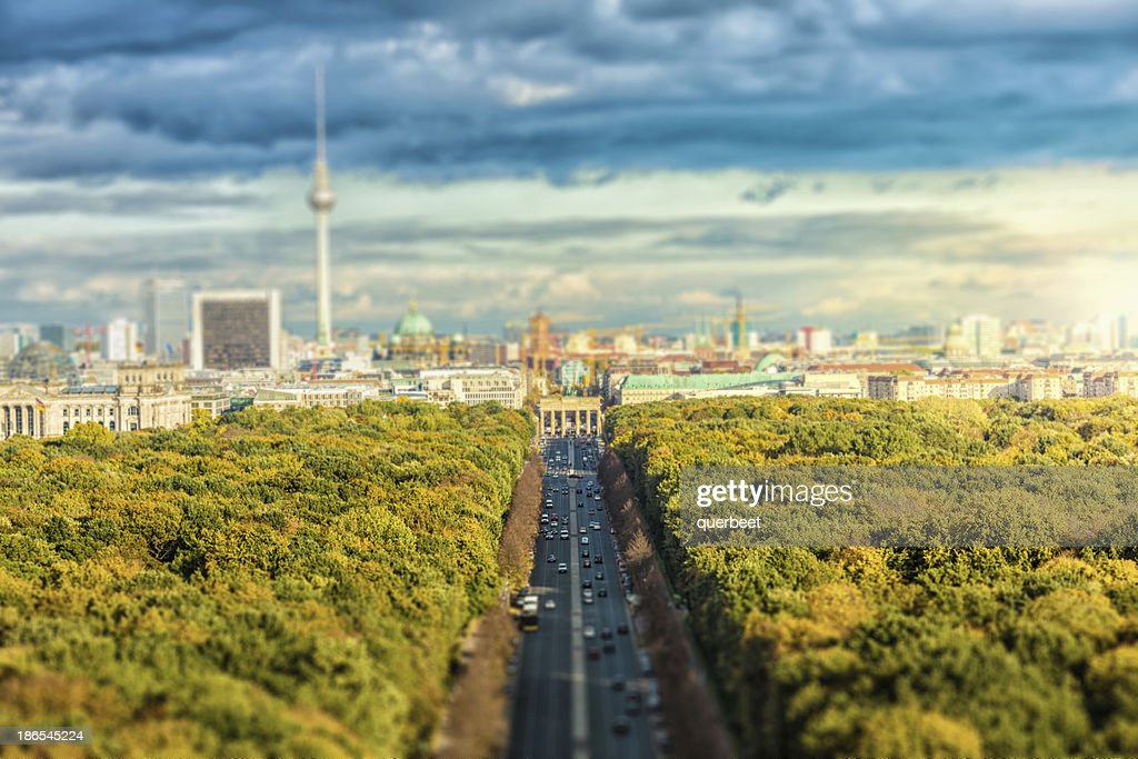 Skyline of Berlin : Stock Photo