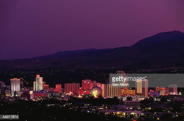 Skyline of Casinos in Reno, Nevada