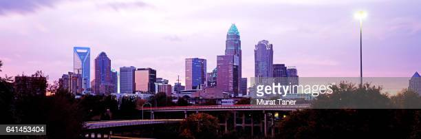 Skyline of Charlotte at dusk