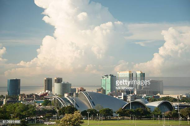 skyline of city of Port of Spain, capital of Trinidad and Tobago in the Caribbean