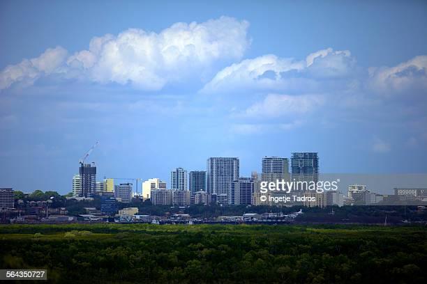 Skyline of Darwin city