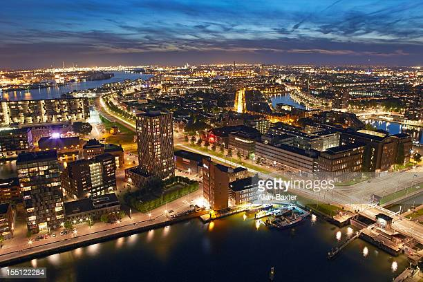 skyline of docklands of Rotterdam