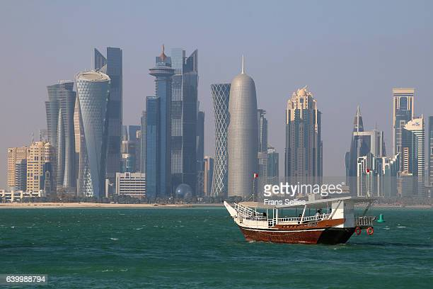 Skyline of Doha financial center, Qatar