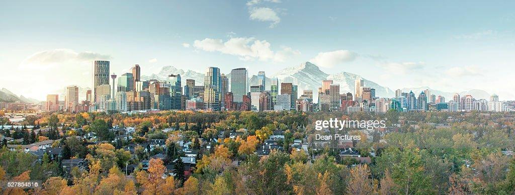 Skyline of downtown Calgary, Alberta, Canada : Stock Photo