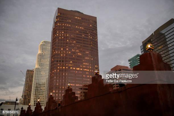 Skyline of downtown Los Angeles, California, USA