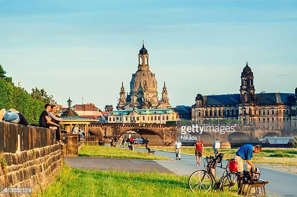 Skyline von Dresden, Deutschland