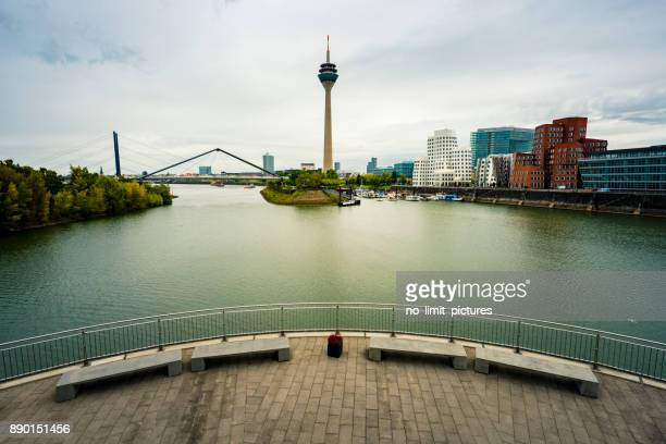 Skyline of Düsseldorf in Germany