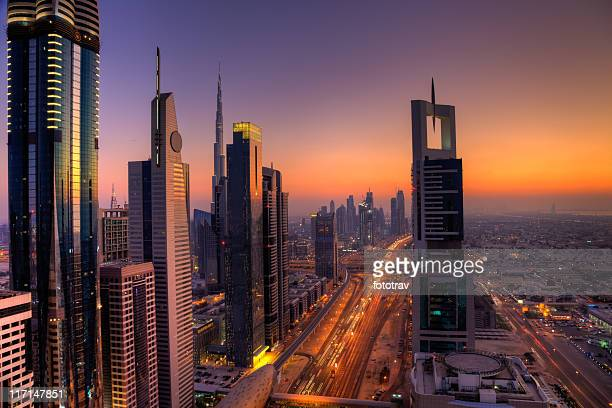 Die Skyline von Dubai Financial District