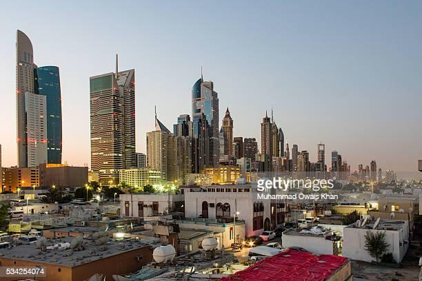 Skyline of Dubai, United Arab Emirates.