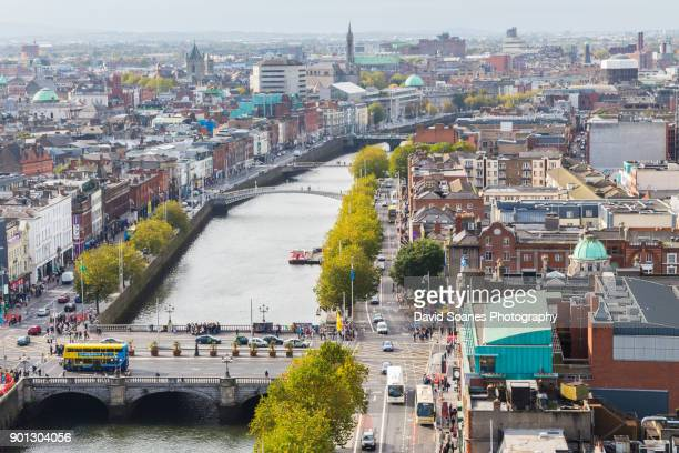 skyline of dublin city, ireland - dublin stock pictures, royalty-free photos & images