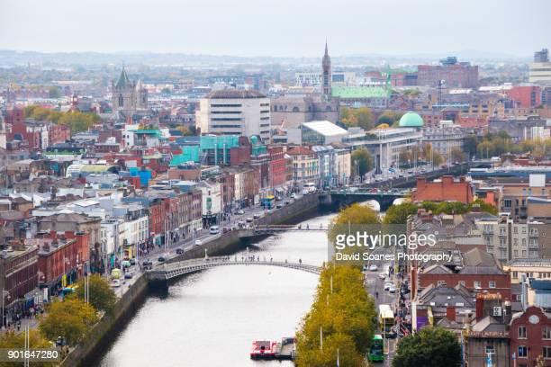 Skyline of Dublin City, Ireland