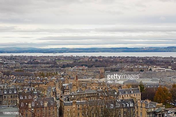 Skyline of Edinburgh and Leith