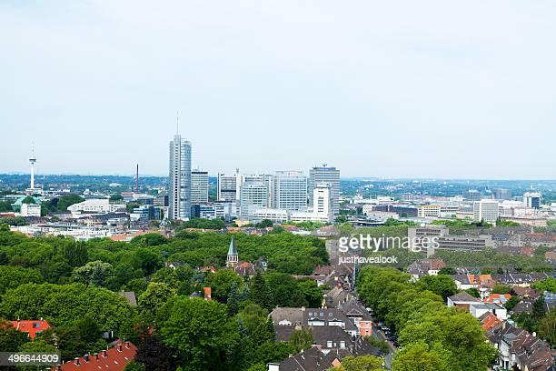 Skyline di Essen in estate