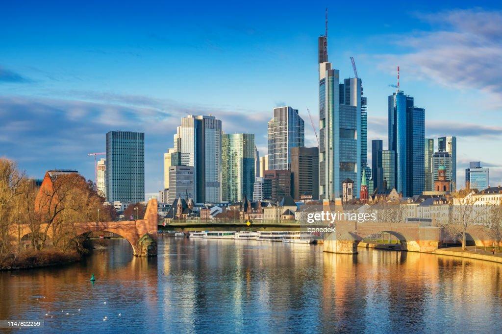 Skyline of Frankfurt am Main Germany : Stock Photo