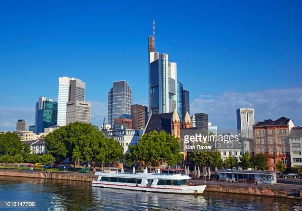 Skyline of Frankfurt over the River Main at sunrise
